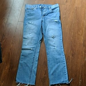 Medium blue wash Levi's wedgie